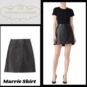 NWT Cupcakes &Cashmere Leather Marrie Skirt, Sz 2